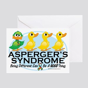Aspergers-Ugly-Duckling Greeting Card