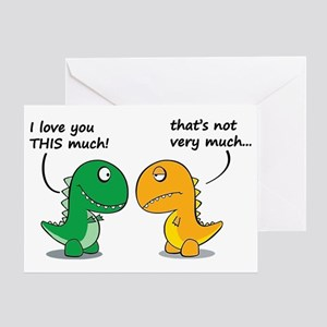 Cute Dinosaurs Greeting Card