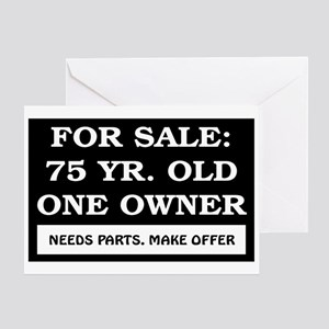 For Sale 75 Year Old Birthday Greeting Card