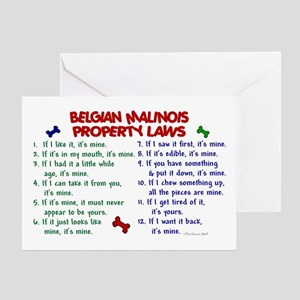Belgian Malinois Property Laws 2 Greeting Card