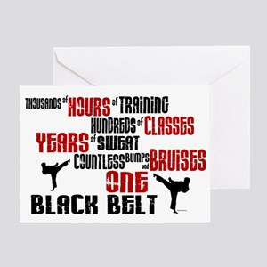 ONE Black Belt 2 Greeting Card