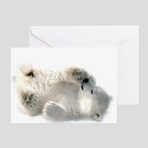 Baby Polar Bear Greeting Cards