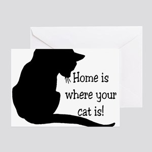 Home Cat Greeting Card