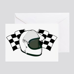 Helmet & Flags Greeting Card