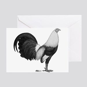 Gamecock Grey Duckwing Rooster Greeting Cards