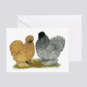 Sizzle Chickens Greeting Card