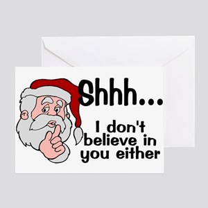 Santas Secret Greeting Card