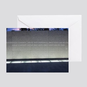MLK Darkness and Love Greeting Card