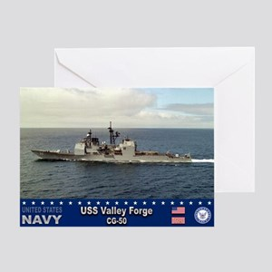 USS Valley Forge CG-50 Greeting Card