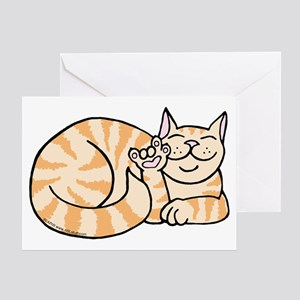 OrangeTabby ASL Kitty Greeting Card