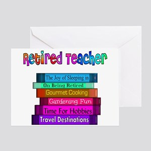 Teacher Retirement Greeting Cards Cafepress