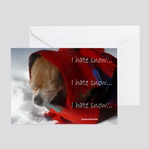 Timmy Hates Snow Greeting Card