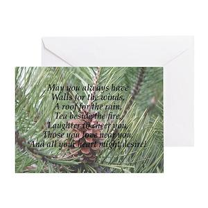 Irish Christmas Blessing.Irish Christmas Blessing Greeting Card