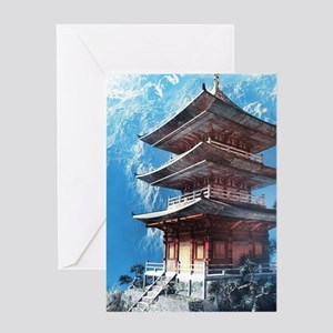 Zen Temple Greeting Cards
