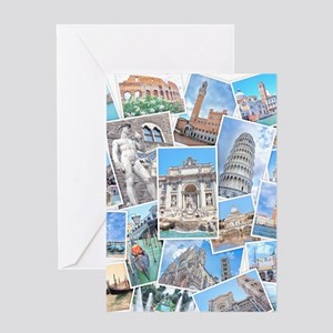Italy Collage Greeting Cards