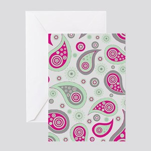 Paysley pattern Greeting Cards