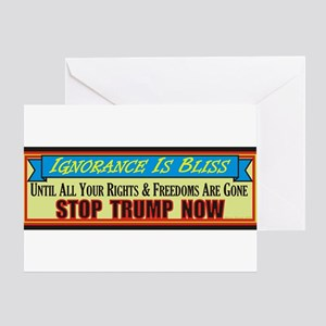 Stop Trump Now Greeting Cards