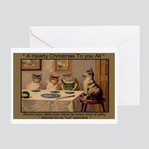 1881 Hearty Christmas Greeting Card