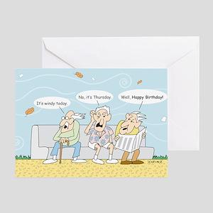 Old Guys Birthday Greeting Card
