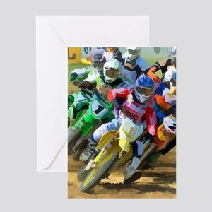 Motocross Greeting Cards