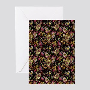 Pretty paisley Greeting Cards