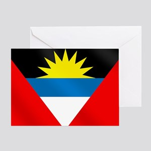Antigua And Barbuda Flag Greeting Cards