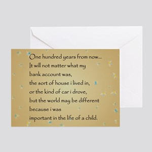 ONE HUNDRED YEARS Greeting Card