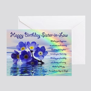 Birthday Card For Sister In Law With Forget Me Not