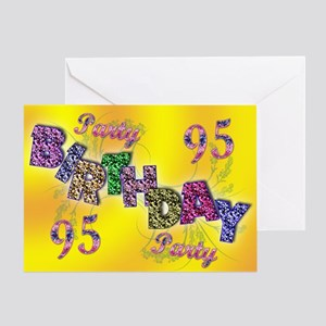 95th Birthday Party Invitation Greeting Card