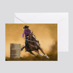 69e187695c478 Cowgirls Jesus Christian Rodeo Barrel Racing Horse Greeting Cards ...