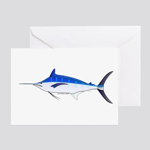 Blue Marlin fish Greeting Card