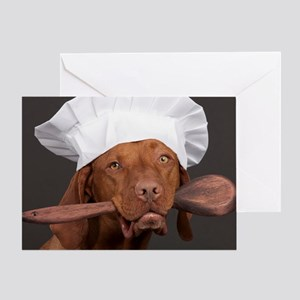 vizsla chef Greeting Card