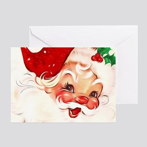 Vintage Santa 4 Greeting Cards