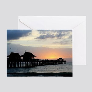 Pier Silhouette  Greeting Card