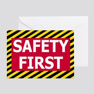 Safety-First-Sticker Greeting Card