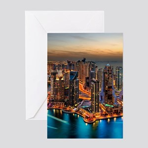 Dubai Skyline Greeting Cards