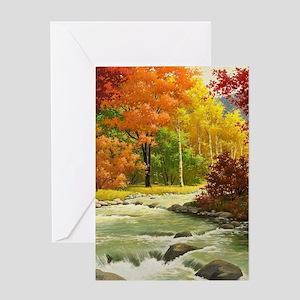 Autumn Landscape Greeting Cards
