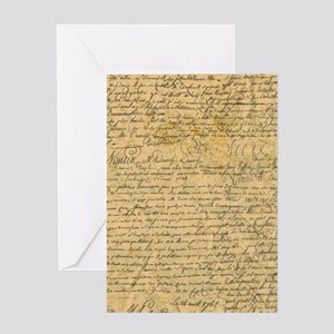Old Manuscript Greeting Cards