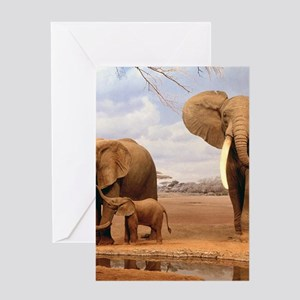 Family Of Elephants Greeting Cards