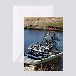 Florida swamp airboat 2 Greeting Cards