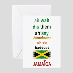 Jamaicans ah de baddest - Greeting Card