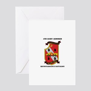 4th LAR Battalion with Text Greeting Card