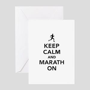 Keep calm and Marathon Greeting Card