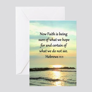 HEBREWS 11:1 Greeting Card