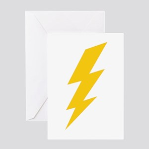 Yellow Thunderbolt Greeting Card
