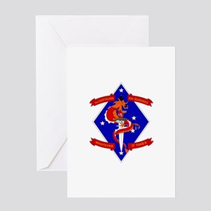 1st Battalion - 4th Marines Greeting Card