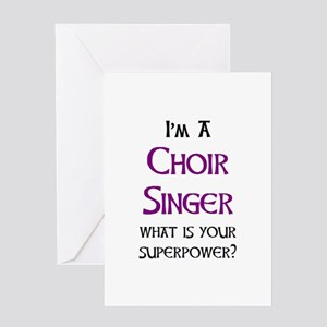 choir singer Greeting Card