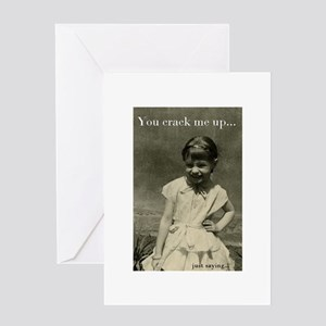 You crack me up vintage image quote Greeting Cards