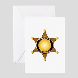 Sheriff's Department Badge Greeting Card