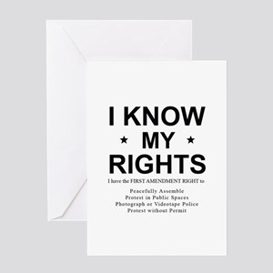I KNOW MY RIGHTS BL Greeting Cards